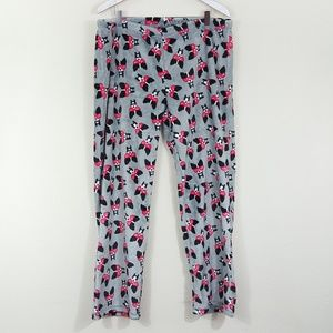 Joe Boxer NWOT Gray Heart Eye Dog Print PJ Pants